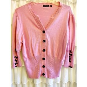 Pink Cardigan with Bows Size XL